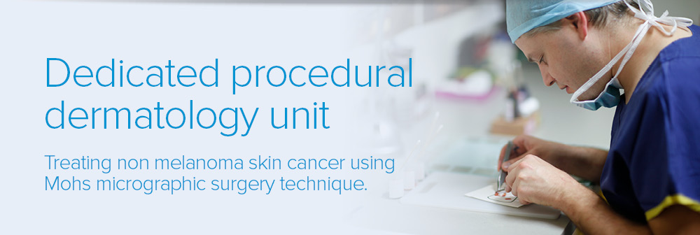 Dedicated procedural dermatology unit
